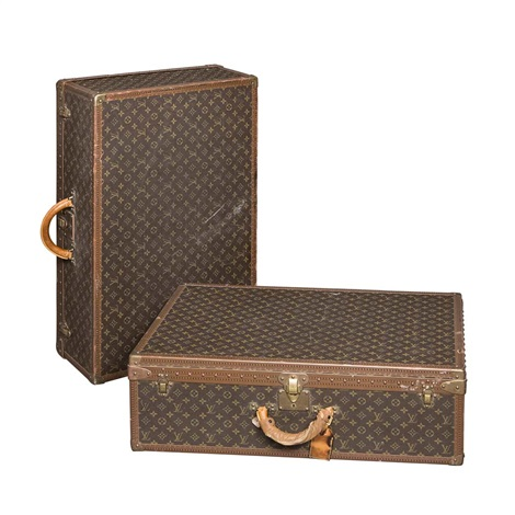 suitcases 2 works by louis vuitton