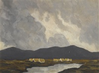 cottages by a lake by paul henry