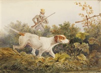 le chasseur et son épagneul by newton (smith limbird) fielding