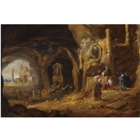 the raising of lazarus by rombout van troyen