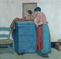 devant le miroir by myron barlow