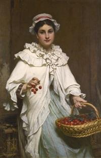 la cueilleuse de cerises by pierre francois bouchard