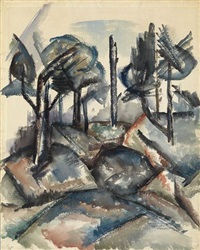 untitled (landscape) by norman lewis