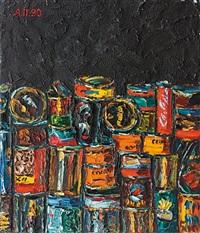 composition aux canettes sur fond noir, 90 by alexandr popov
