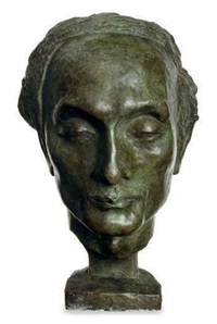 head of yone noguchi by alfeo faggi