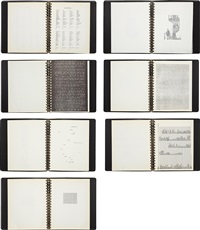 three operas; a theory of poetry; america drill; passport; one hundred sonnets; lyrics and odes; and shape and structure (7 books) by carl andre