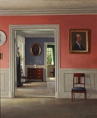 interior from bakkehusmuseet, denmark by hans hilsoe