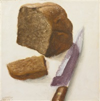 bread and knife by avigdor arikha