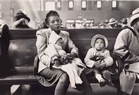 in the waiting room, greyhound bus terminal, new york by esther bubley