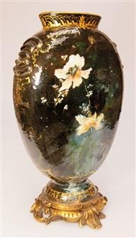 vase mit bronzemontierung by edouard dammouse