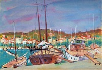 cannes harbour by louis kahan
