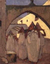 marocaines se rendant à un mariage by marcel vicaire