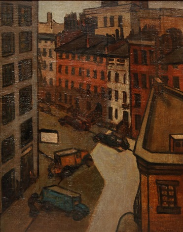 street scene by john french sloan