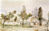the ward homestead, toronto (centre) island by william walton armstrong