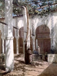 scène dans un palais by paul pascal