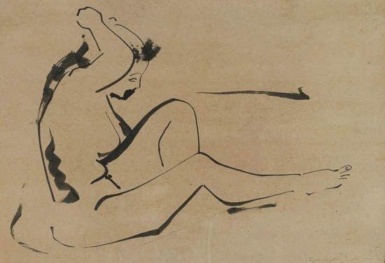 female nude by isamu noguchi