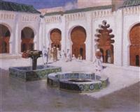 cour de la grande mosquée by pierre prince de wolkonsky