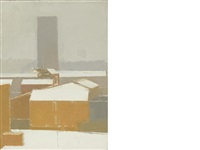 snow on lambeth by euan uglow
