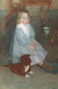 l'enfant au chien, le petit frère maurice by hippolyte daeye