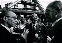garden party- businessmen, tokyo by william klein