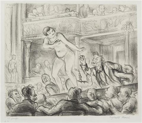 irving place burlesque by reginald marsh