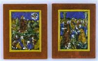 la cène et diverses représentations de l'ancien testament by léonard limosin