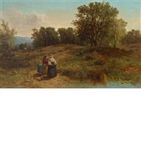 blueberry pickers by albert fitch bellows