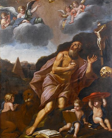 saint jerome by lucio massari