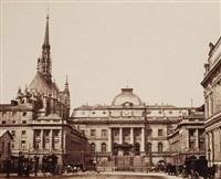 le palais de justice et la sainte chapelle, paris by achille quinet