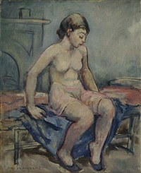 seated nude by anne wilson goldthwaite