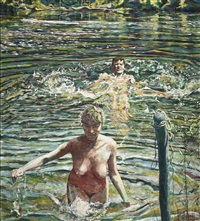 three bathers by henry korda