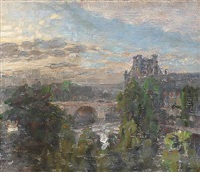 view from paris by julius paulsen