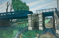 le canal de la villette by alphonse léon quizet