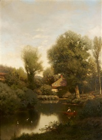 late afternoon on a mill brook by henry pember smith
