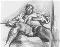 weiblicher akt mit gespreizten beinen by hans böhler