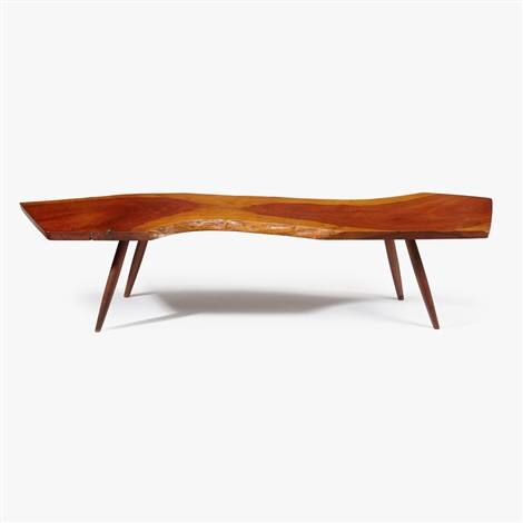 Early Cherry Turned Leg Coffee Table, 1958 By George Nakashima