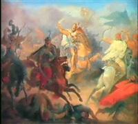 die ungarnschlacht 907 bei pressburg, by wilhelm lindenschmit the elder
