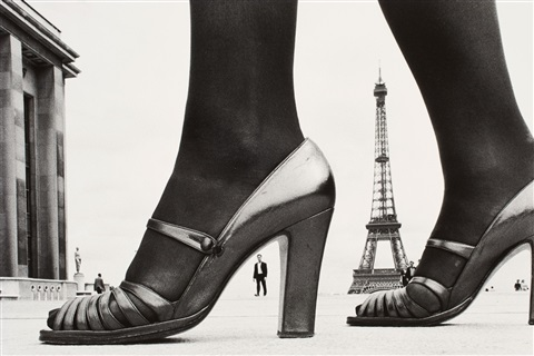 shoe and eiffeltower by frank horvat
