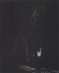 untitled (legs and fireplace) by theodore (count) zichy