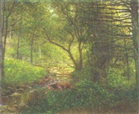 woods and stream by william henry lippincott
