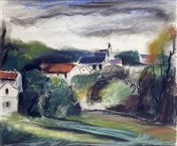 le village by maurice de vlaminck
