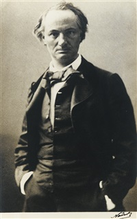portraits de baudelaire (2 works) by nadar