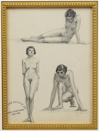 figure sketches (32 works) by harry worthman