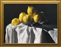 lemons and drapery by robert lemay