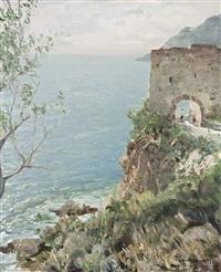 antica porta a noli by ottorino campagnari