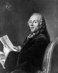 portrait d'homme assis tenant une lettre by simon-bernard lenoir