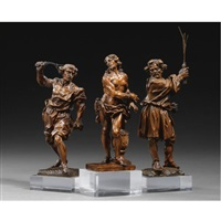 flagellation group (set of 3) by david heschler