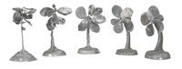 plant becomes a fan (in 5 parts) by jim dine