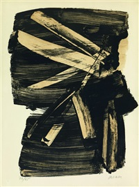 lithographie n°10 by pierre soulages