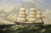 the blackwall frigate newcastle off dover by w. webb